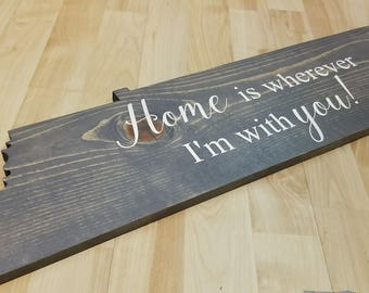Tennessee state art sign decor, Tennessee home sign,  Home is wherever I'm with you, Rustic state sign, Tennessee state cutout, TN sign