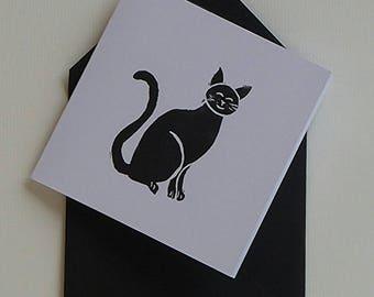 elegant cat' black and white