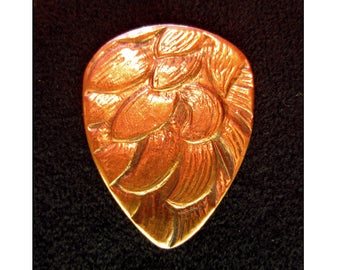 Antique Scottish Copper Guitar Pick - Standard 351 .8mm Medium - Free Shipping with Extra Gifts Included
