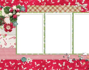 Ho Ho Ho- Digital Scrapbooking Quick Pages - INSTANT DOWNLOAD