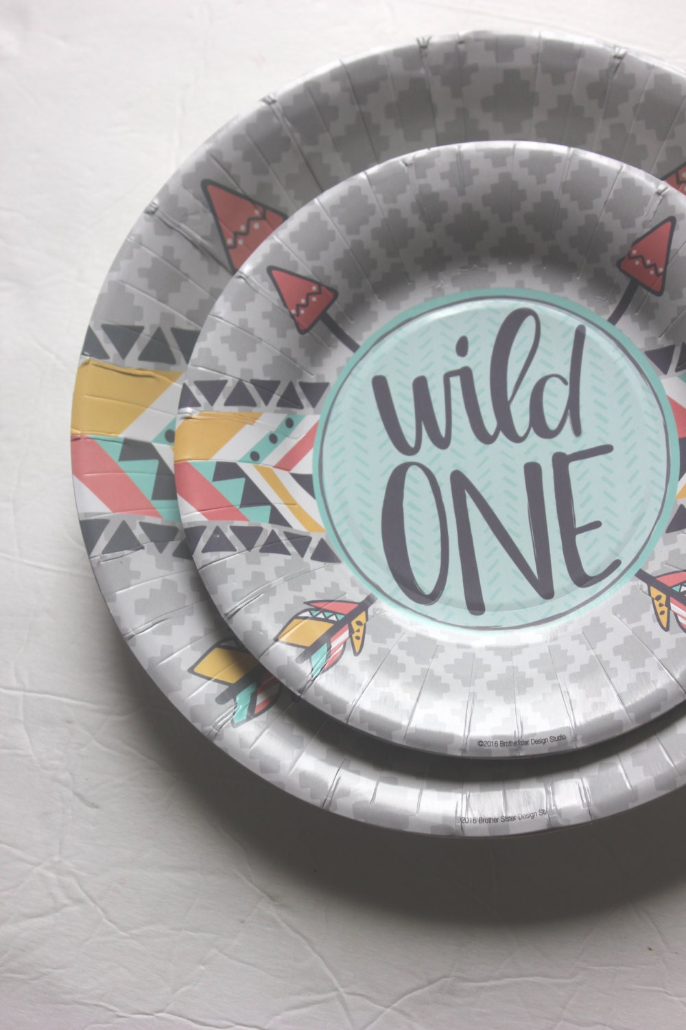 Sale 20 WILD ONE Small Paper Plates Dessert Where the Wild Things Are First Birthday Party Kids 1st Baby Shower Letter Pink Grey Mint Yellow & Sale 20 WILD ONE Small Paper Plates Dessert Where the Wild Things ...