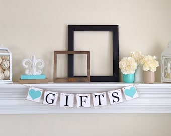Gifts Banner - Party Decorations - Wedding Reception Decoration - Gifts Table