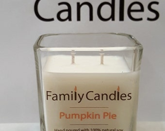 Family Candles - Pumpkin Pie 7.5 oz Double Wicked Soy Candle