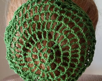 Large Size Hair Bun Cover- in Cotton Crochet Thread