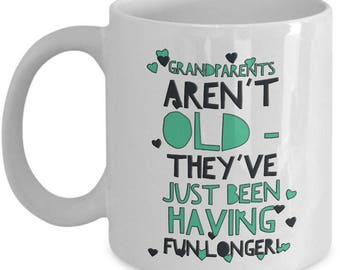 Funny Grandparents Coffee Mug - Ceramic Novelty Grandma Or Grandpa Coffee Mug - Great Gift Idea For Grandparents - Oma Or Opa Mug - Nana Mug