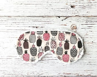 Pineapple Sleep Mask - Pineapple Gifts - Party Favors - Sleeping Mask - Birthday Gifts - Back to School - Sleep Mask - Slumber Party
