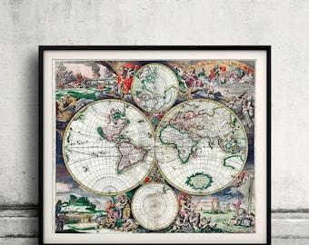 World Map - Nova totius terrarum orbis tabula Amstelodami - 1689 - SKU 0173