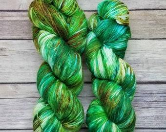 Sock Yarn - Superwash 75/25 Merino/Nylon - Hand Painted - Tibbitts Forest