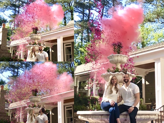 "24"" POWDER & CONFETTI CANNON Gender Reveal Smoke Powder Cannons and Confetti Cannons! New Gender Reveal Idea! Ships Same Day!"