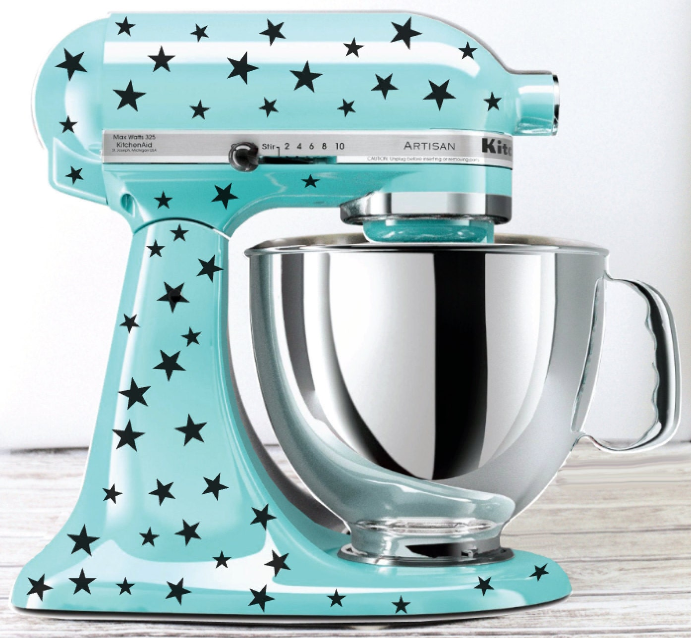 Star Kitchen Mixer Decals Mixer Stickers to be used on
