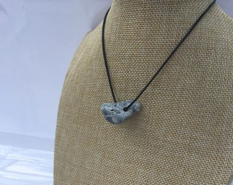 Irish Hag Stone Beach Pebble Pendant