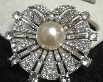 Crown Trifari Sterling Alfred Philippe Dream Shell Fur Clip