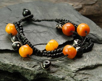 Jewelry for Bema Amber and Black Bead Bracelet