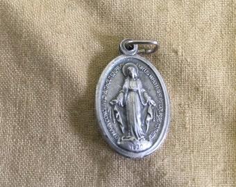 French religious pendant silver