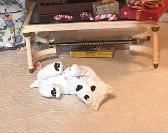 Westie Dog  Fairy Garden Miniature Dog Sculpture 1:12 scale