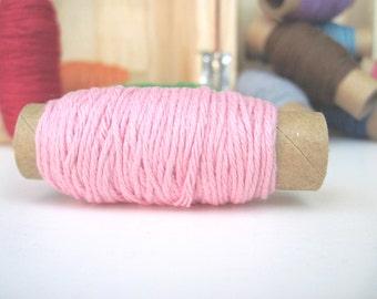 Solid Pink Bakers Twine - 25 yards on each spool - Pink Twine - Brown