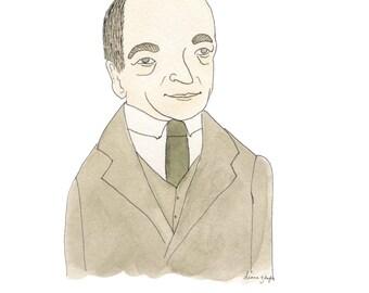 C.S. Lewis -  Literary Portrait Print