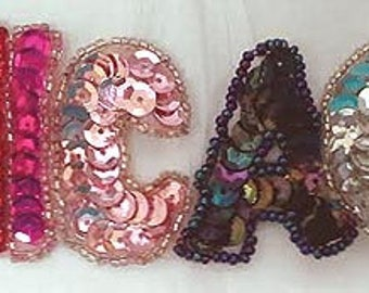 Sequins & Beaded CHICAGO (Multi Color) Applique