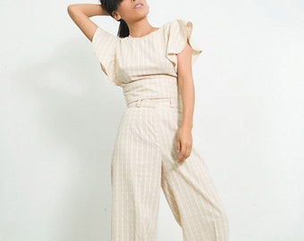 palazzo pants/ Palazzo trousers/ maxi pants organic cotton/ loose pants/ formal pants/ plus size palazzo
