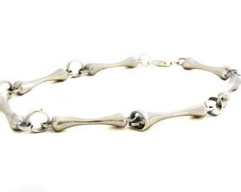 Silver bone bracelet - Bone bracelet - Silver bone - Sterling silver bracelet - Goth bracelet - Unique bracelet - Valentine's day gift