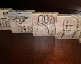 Walking Dead Coasters Set of 6 - TWD Coasters - TWD Decor - Walking Dead Decor - Wooden Coasters - Walker Memorabilia