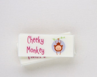 """33 - 1"""" x 2.5"""" - sew in fabric labels - Your logo and text"""