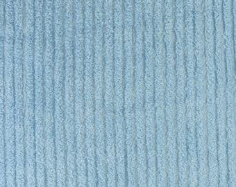Blue Straight Line Cotton Chenille Destash