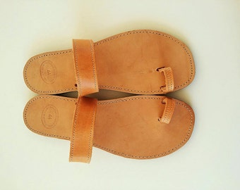 Greek Sandals,Leather Sandals with Straps,Natural Leather Sandals,Toe Ring Sandals ,Mythology inspired Sandals,Handmade in Greece.