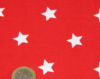 coupon fabric patchwork 50 X 50 cm / red stars