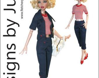 "PDF On Trend Pattern for 16"" Deja Vu Dolls Tonner"