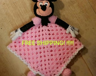 Minnie Mouse Lovey Blankie. FREE SHIPPING! !!!