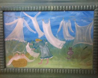 Barbara Strawser Original Folk Painting 'Strawser Art' Folk Art