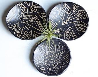 Handmade Ceramic Ring holder dish, ceramic ring dish, boho ring dish holder, boho wedding ring dish, engagement gift, wedding gift,