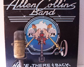 "Allen Collins Band (ex-Lynyrd Skynyrd) Vinyl Record LP 1980s Classic Rock and Roll ""Here, There & Back"" (1983 Mca)"