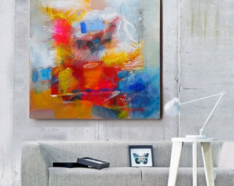 Large Wall Art Canvas, Fine Art Painting, Abstract Painting red, Original Painting Canvas Art, Living Room Wall Decor, Contemporary Wall Art