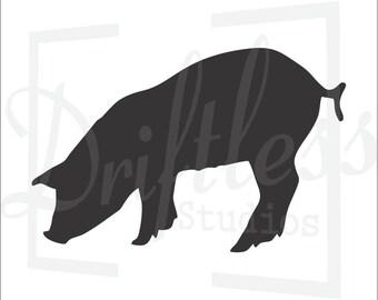 Pig Stencil 2 , Pig Template, Farm Stencil, Pig Wall Art