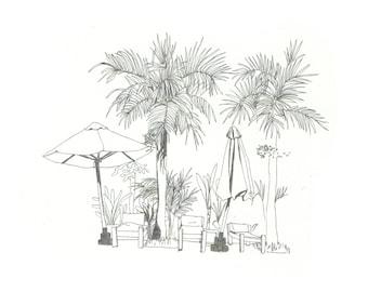 Cambodia - riso print (black)