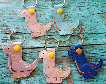 Long Neck Dino Keychain