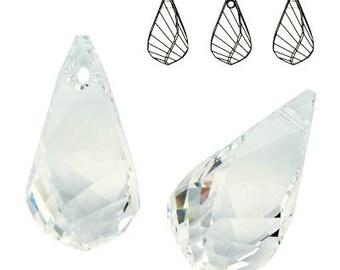 Swarovski Elements, 6020, Helix Pendant Crystal, Swarovski Helix, Swarovski crystal, white crystal, clear crystal, drop crystal, 18mm