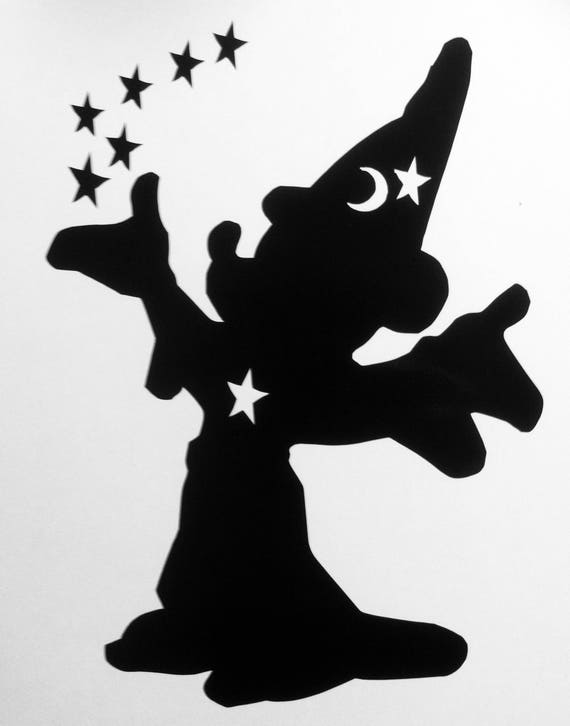 Mickey Sorcerer S Apprentice Vinyl Decal From