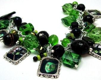 Wicked Witch of the West Charm Bracelet,  Picture Charm Bracelet, Silver Bracelet, Wizard of Oz