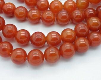 12 pearls 12 mm carnelian orange 12 mm
