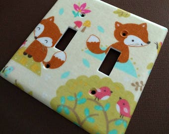 Fox and His Woodland Friends  Light Switch Covers Outlet Covers