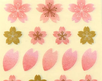 Cherry Blossom Stickers - Masking Tape Stickers -  Japanese Stickers - 84 Total (S29)