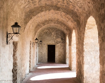 Mission San Jose-building photography-old building photo-arches-Texas photography - Original fine art photography prints - FREE Shipping