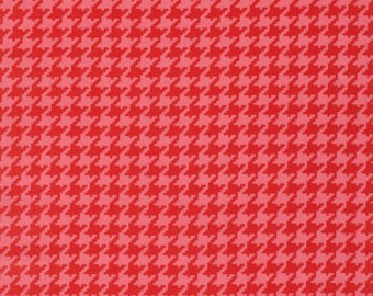 Ginger Snap by Heather Bailey for Free Spirit - Houndstooth - Red - 1/2 yard cotton quilt fabric 516
