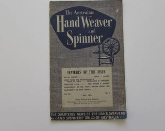 Vintage (1950s) craft book, 'The Australian Hand Weaver and Spinner', Spinners' Guild of Australia