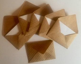 Miniature Envelopes Brown Paper, Teeny Tiny Envelopes, Mini Envelopes