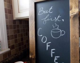 Rustic Wood Framed Chalkboard - Kitchen Chalkboard - Wood Chalkboard - Wooden Chalkboard - Menu Chalkboard - Rustic Chalkboard - 24x14