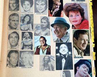 60s Scrapbook,60s Ephemera,60s Celebrities,Celebrity Ephemera,Retro Scrapbook,Movie Fan,Celebrity Fan,60s Movie Stars,Celebrity Scrapbook